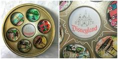 Vtg-1960-039-s-Disneyland-Walt-Disney-Production-Drink-Holder-Tray-Tin
