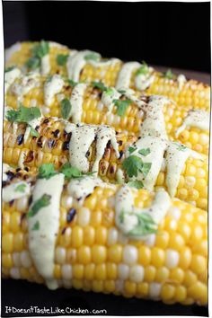 Creamy Cilantro Lime Corn on the Cob! This recipe takes only 20 minutes to make, but will wow your family or guests.