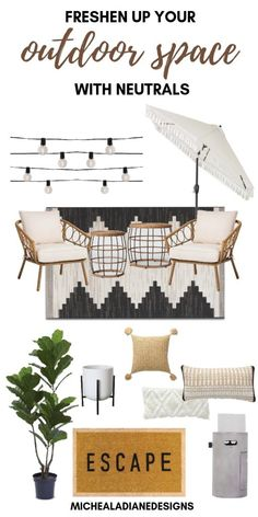 Get Inspired: How to Decorate Your Outdoor Living Space & Outdoor Inspiration Summer is almost here! Come check out how to decorate your outdoor space. Outdoor patio inspiration with sources. Outdoor Spaces, Outdoor Living, Outdoor Decor, Outdoor Patio Rugs, Outdoor Patio Decorating, Decorating Decks, Modern Outdoor Chairs, Outdoor Pillow, Pergola Patio