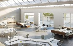 Love the different workstation layouts mixed with breakout meeting space - Not everyone works the same way -  OFS