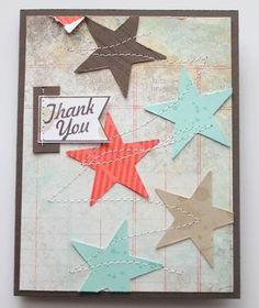 A tester avec les dies 4 en scrap. Handmade Greetings, Greeting Cards Handmade, Cool Cards, Diy Cards, Star Cards, Christmas Card Crafts, Beautiful Handmade Cards, Scrapbook Cards, Scrapbooking Ideas
