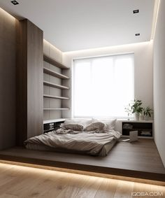 5 Adorable Tips: Desain Rumah Minimalist Home Models minimalist interior scandinavian lounges.Minimalist Home Interior White minimalist bedroom ideas quartos. Modern Bedroom Design, Home Interior Design, Modern Interior, Small Modern Bedroom, Small Bedroom Designs, Interior Designing, Trendy Bedroom, Beautiful Bedrooms, Room Interior