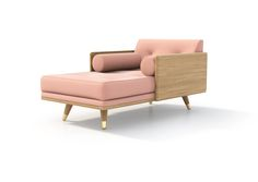 Exposed wood frame upholstered series that offers 3 basic configurations (chaise, sectional and sofa) which are infinitely modifiable. With no pre-set configurationin mind, the design offers you the ability to configure and re-configure the piece as desired and as your living spaces change.