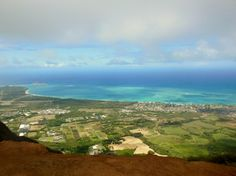 View from the top of the Kuli'ou'ou Ride Trail, Hawaii.