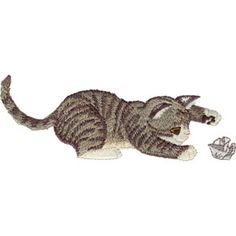 Free Embroidery Design: Grey Tabby