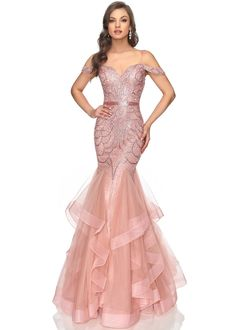 Lucci Lu 2147 Jeweled Off the Shoulder Mermaid Dress Hoco Dresses, Homecoming Dresses, Evening Dresses, Beauty Pageant Dresses, Mermaid Gown, Mermaid Dresses, Dinner Gowns, Beautiful Evening Gowns, Classy Outfits