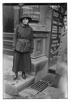 """Fania Esiah Mindell was born in Minsk, Russia on December 15, 1894. She emigrated to Brooklyn, New York in 1906 with her parents and family, and became a US citizen in 1919."" ""As a young political activist in 1916 she met the now famous feminist Margaret Sanger and her sister Ethel Byrne. Together, the three women opened the first birth control clinic in the United States in Brooklyn known as the ""Brownsville Clinic"" (after the Brownsville section of Brooklyn in which it was located)."""