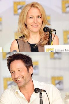 Twitter / hellokris: Mulder and Scully forever <3 ... The X-Files 20th Anniversary Panel SDCC 2013