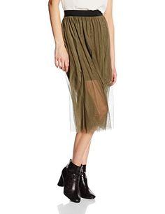 8f19c8e5de Vero Moda Women's Mesha Skirt (Ivy Green) 10 (Size:Medium)