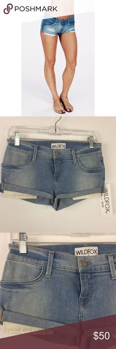 """WILDFOX The Willow Denim Shorts WILDFOX Denim Shorts.  Style Willow.  Shorts measure approx 1"""" inseam.  NWT.  A3 Wildfox Shorts Jean Shorts"""
