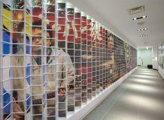 3D zigzag wall graphics