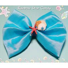 Coming soon to the Rainbow Star Candy shop! Lovely Mermaid Hairbow! ❤Rainbowstarcandy.etsy.com❤ .   .   .  #Lolita #Fairykei #Gyaru #smallbusiness #hairbow #hairaccessories #kawaiiaccessories #starfish #kawaii #cute #kawaiilifestyle #kawaiifashion #mermaid #blue #RainbowStarCandy