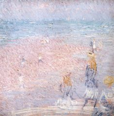 Philip Wilson Steer, 'Figures on the Beach, Walberswick' c.1888-9