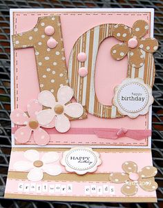 Kath's Blog......diary of the everyday life of a crafter: Happy Birthday Craftwork Cards