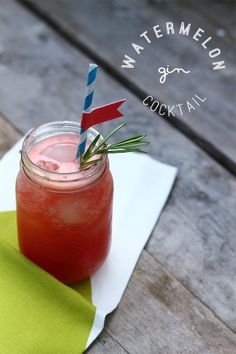 Watermelon Gin Cocktail | Squirrelly Minds.