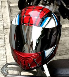 MASEI 830 Spider-Man DOT ECE MOTORCYCLE BIKE HELMET size L (SILVER VISOR)
