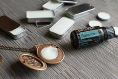 Solid perfume using beeswax and coconut oil.