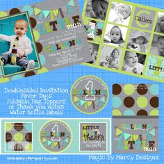 first birthday Party Printable Pack Little man turns one Ties and by marcylauren, $30.00  magic by marcy
