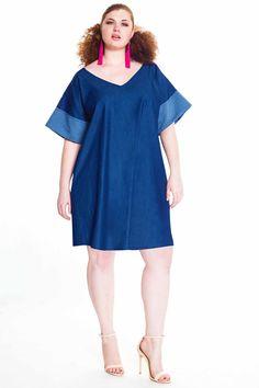 5e8aecf205 JIBRI Denim Mini Tunic Dress Denim Shirt Dress
