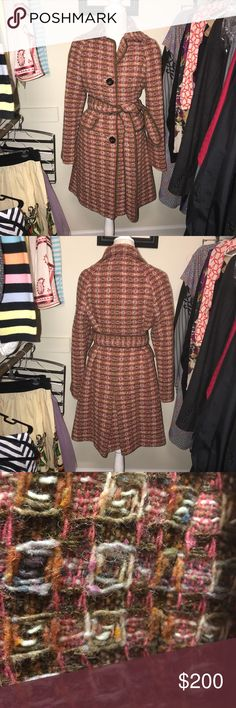 The Limited retro vintage style steed coat The limited retro vintage style tweed coat. Fully lined. Size Medium. The is a heavy coat. Perfect for Fall and Winter. See photo of gorgeous woven pattern up close. This is definitely a luxury coat. Please ask for measurements, if needed. Excellent Condition!  **Please see all photos. Feel free to ask any questions before purchase** The Limited Jackets & Coats