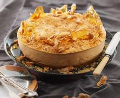 Peanut Butter and Caramel Cheesecake with Brittle