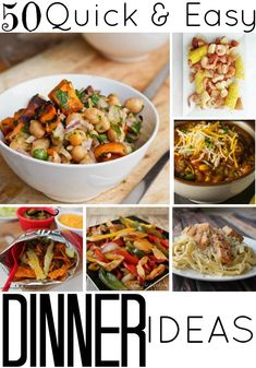 50 Quick and Easy Dinner Ideas - Satisfaction Through Christ | Back to School means busier schedules and fuller days. Scrambling for dinner is the last thing you're wanting to do. Plan ahead with 50 of the quickest and easiest dinner ideas!