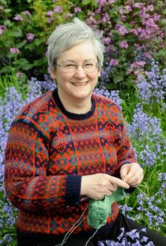 Fair Isle Knitting with Shetland's Hazel Tindall- this video is available to purchase and teaches you how to knit an all-over fair isle sweater. Oy vay! The beauty!