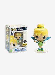 Funko Disney Diamond Collection Peter Pan Pop! Tinker Bell Vinyl Figure Hot Topic Exclusive,