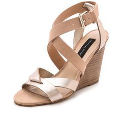 37dacdf2d0fc Steven Mariia Wedge Sandals - Nude Multi Zapatos Shoes