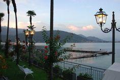 Twilight along the lake, Baveno, Italy