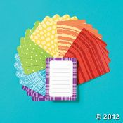 Fun and bright journal cards for recipe books, DIY craft books, etc