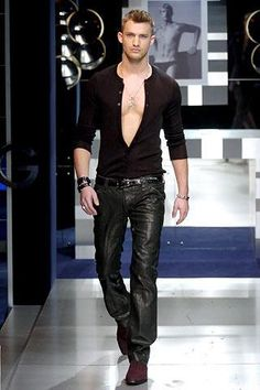 .Nicolas Lemons. Damn he is hot - burning up that catwalk in your black leather!!!