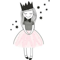 Such a sweet little girl, she should be fun to practice sketching and coloring. Art And Illustration, Drawing For Kids, Art For Kids, Easy Drawings, Doodle Art, Cute Cartoon, Cute Art, Painting & Drawing, Watercolor Art