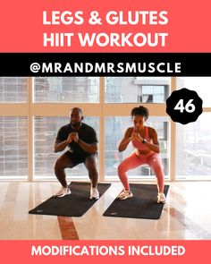 Add this fat burning lower body HIIT exercise to your workout routine to burn calories and build muscle. Add this fat burning lower body HIIT exercise to your workout routine to burn calories and build muscle. Hiit Workout Videos, Hiit Workouts For Beginners, Full Body Hiit Workout, Hiit Workout At Home, Fat Burning Workout, Butt Workout, At Home Workouts, Workout Men, Studio Workouts