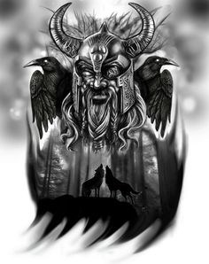 Odin tattoo idea | digital painting. | Tattoo Guy | Flickr