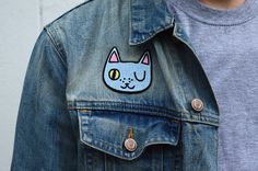 Winking cat patch by
