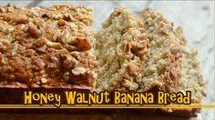 Super Easy & Moist Honey Walnut Banana Bread