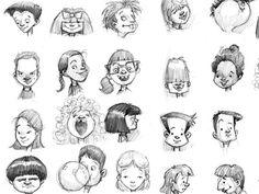 Heads by Smiling Otis Studio https://www.facebook.com/CharacterDesignReferences