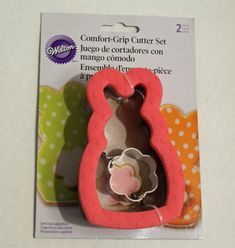Bunny and Tail 2 piece Cookie Cutter Comfort Grip by Wilton Metal New Easter #Wilton