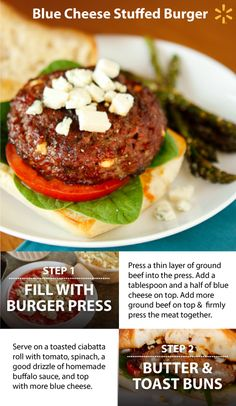 Kick up the flavor on your backyard burgers! Everybody loves burgers, but… Grilling Recipes, Beef Recipes, Cooking Recipes, Healthy Recipes, Burger Recipes, Recipies, Good Food, Yummy Food, Tasty