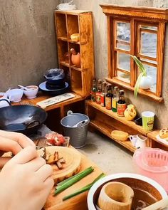 Mini Kitchen, Miniature Kitchen, Miniature Crafts, Miniature Food, Miniature Dolls, Tiny Cooking, Real Cooking, Fun Baking Recipes, Real Food Recipes