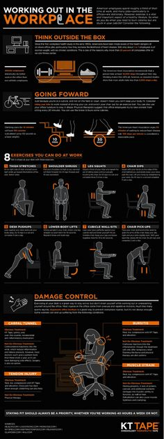Workplace workout. Exercises for those of us that sit most of the day.