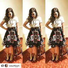 Y'all, how perfect is her skirt❤️ #Repost @courtlyyn with @repostapp ・・・ Round 4. #WNFR