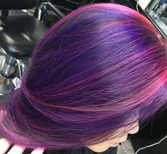 Purple hair with pink highlights