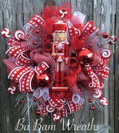 Reserved Nutcracker Candyland Nutcracker Wreath by BaBamWreaths