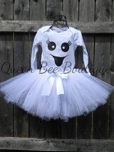 Ghost costume halloween costume little girl by QueenBeeBoutique127