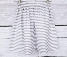 Skirt in grey white stripes skirt woman fabric with white stripes Stripe Skirt, Grey And White, Stripes, Trending Outfits, Woman, Skirts, Fabric, Clothes, Vintage
