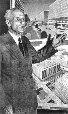 Mattos Pimenta defende seu projeto para Brasília na década de 1920<br />Foto divulgação  [<i>Projetos para Brasília 1927-1957</i>, de Jeferson Tavares]
