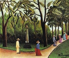 Henri Rousseau - The Monument to Chopin in The Luxembourg Gardens, 1909