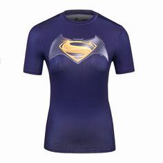 Ladies DC Comics Marvel Superman Batman/ Wonder Women's Fitness joger T Shirt Girls Bodybuilding Compression Tights Tee Tops Superhero Superman, Batman, Superman Logo, Latest Winter Fashion, Compression T Shirt, Marvel Women, Tee Shirts, Tees, Dress And Heels